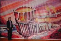 Backdrop for the Lakeland Theatre's production of the Wizard of Oz